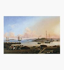 Fitz Henry Lane - The Fort And Ten Pound Island, Gloucester, Massachusetts Photographic Print