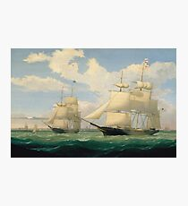 Fitz Henry Lane - The Ships Winged Arrow And Southern Cross In Boston Harbor 1853 Photographic Print