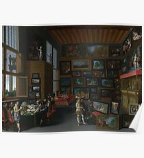 Flemish - Cognoscenti In A Room Hung With Pictures Poster