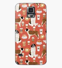 Haustierfreundporträt-Hundekunst des Haustier-Porträts des Bernhardiner-Kaffeehundezucht-Musters von PetFriendly Hülle & Klebefolie für Samsung Galaxy