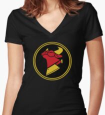 Cow Chop Classic Women's Fitted V-Neck T-Shirt
