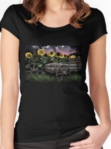 Sunflowers Abound  Women's Fitted Scoop T-Shirt