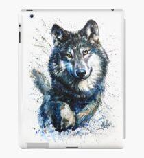Wolf watercolor  iPad Case/Skin