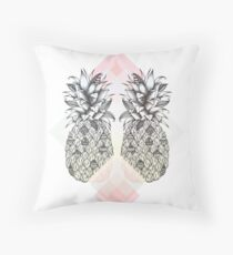 Tropical - Pink Throw Pillow