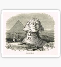 Great Sphinx of Giza & Pyramid Egypt Sticker