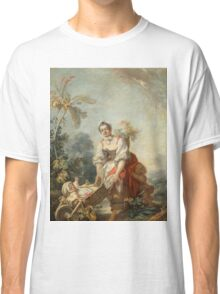 Fragonard, Jean-Honor - The Joys Of Motherhoodabout 1752 Classic T-Shirt