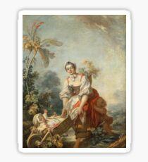 Fragonard, Jean-Honor - The Joys Of Motherhoodabout 1752 Sticker