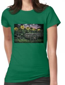 Sunflowers Abound- Rain Womens Fitted T-Shirt
