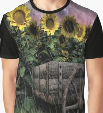 Sunflowers Abound- Rain Graphic T-Shirt