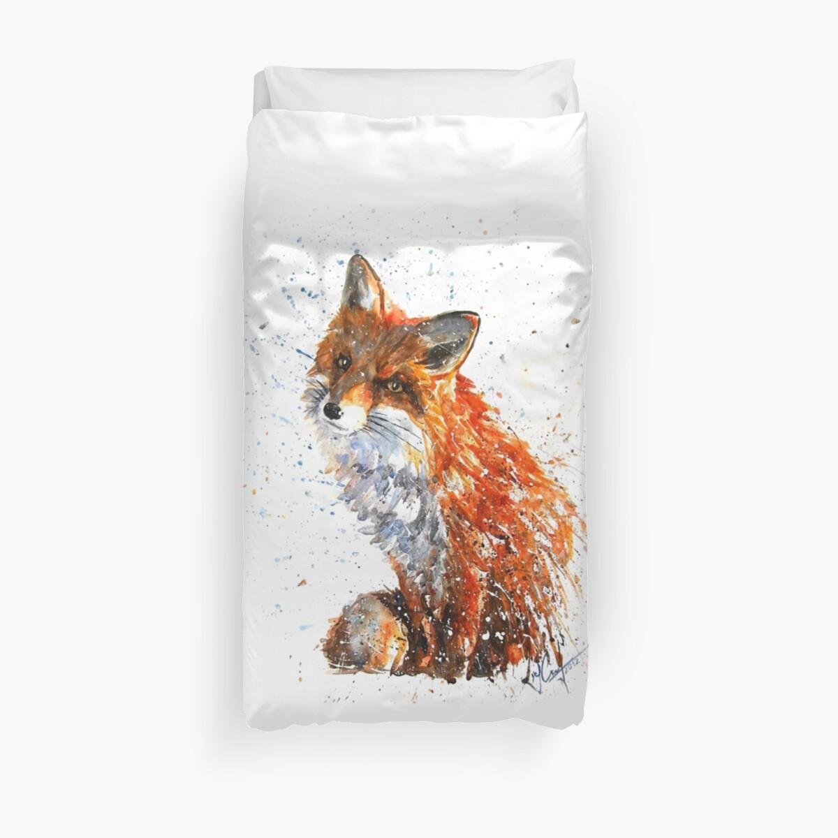 Fuchs Aquarell von Kostart