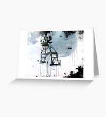 B-Shed Crane Greeting Card