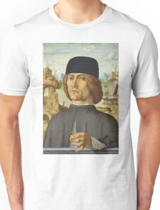 Francesco Del Cossa - Portrait Of A Man With A Ring Unisex T-Shirt