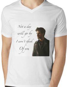 Not A Day Will Go By I Won't Think Of You - Killian Jones Mens V-Neck T-Shirt