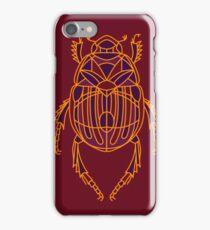Geometric Beetle - Burgundy and Orange iPhone Case/Skin