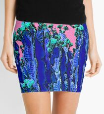 Cartoon Summer Cacti In The Pink  Mini Skirt