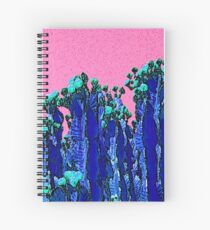 Cartoon Summer Cacti In The Pink  Spiral Notebook