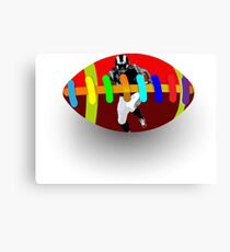 Rugby football Canvas Print