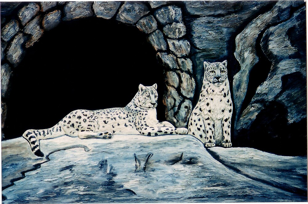 Snow leopards By Emily Winter. by EmilyWinter