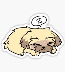 Sleepy Pupper Sticker
