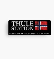 The Thing - Thule Station Antarctica Distressed Canvas Print