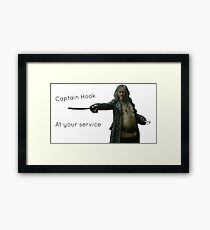 Captain Hook At Your Service Framed Print