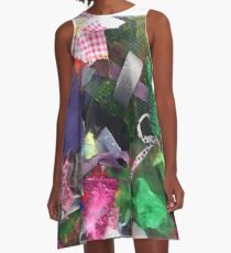 Materials Collage  A-Line Dress