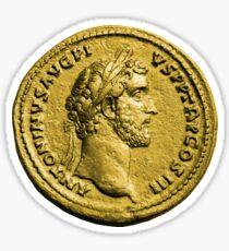 Antoninus Pius Gold Roman Coin Sticker