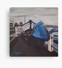 Dull Day, Harbour Road Canvas Print