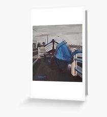Dull Day, Harbour Road Greeting Card