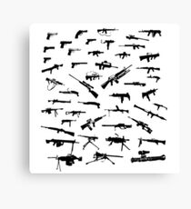 Guns Collections Canvas Print