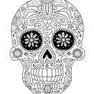 Candy Skull 2 by ShakeyIllustra