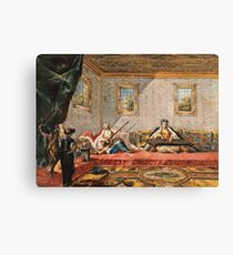 Francesco Guardi - Two Odalisques Playing Music In The Harem1742 Canvas Print