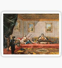 Francesco Guardi - Two Odalisques Playing Music In The Harem1742 Sticker