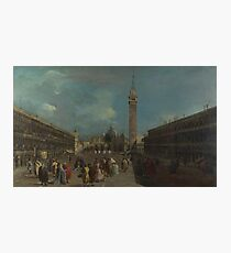 Francesco Guardi - Venice - Piazza San Marco (1) Photographic Print