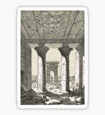 Engraving Dendur Temple & gateway Egypt Sticker