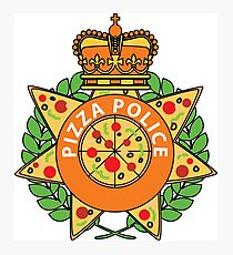 Pizza Police Photographic Print