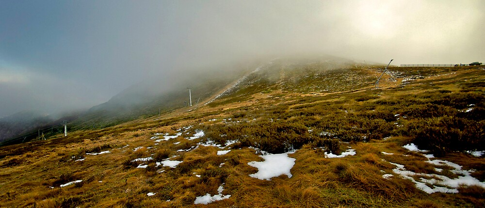 First Snow on the Summit, Mt Buller. by Craig Mitchell