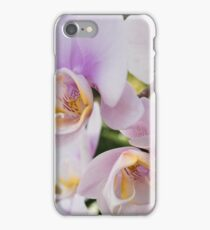 White Soft Orchids Blooming iPhone Case/Skin