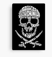 The Goonies - Skull Quotes Canvas Print