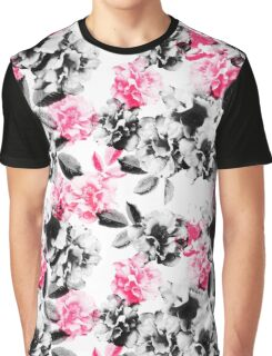 Rose Garden in Pink and Gray Graphic T-Shirt
