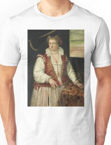 Francesco Montemezzano - Portrait Of A Woman With A Squirrel, 1575 Unisex T-Shirt