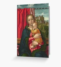 Francesco Morone - The Virgin And Child Greeting Card