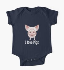 I love Pigs One Piece - Short Sleeve