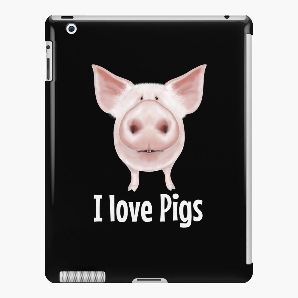 Ich liebe Schweine iPad-Hülle & Skin