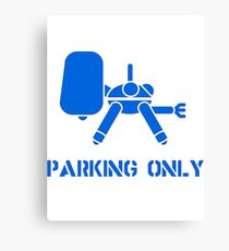 parking only  Canvas Print