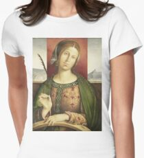 Francesco Zaganelli Di Bosio - Saint Catherine Of Alexandria  1530 Womens Fitted T-Shirt