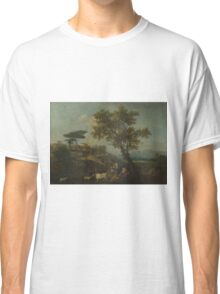 Francesco Zuccarelli - Landscape With Cattle And Figures Classic T-Shirt