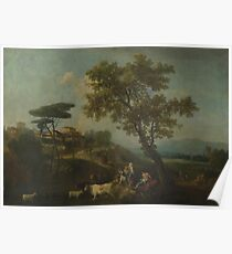Francesco Zuccarelli - Landscape With Cattle And Figures Poster
