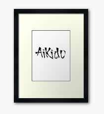 Aikido Calligraphy Framed Print