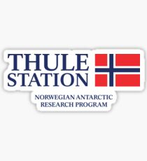 The Thing - Thule Station Antarctica White Sticker